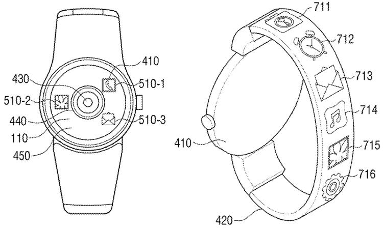 سامسونج تعمل على ساعة ذكية تحمل كاميرا وشاشة مرنة في سوار المعصم