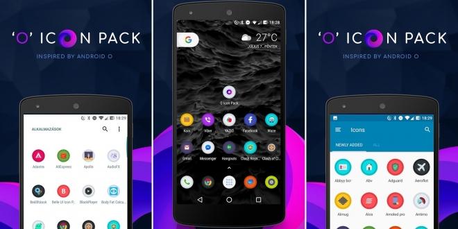 تجربة حزم وخلفيات إصدار أندرويد O مع تطبيق Android O icon