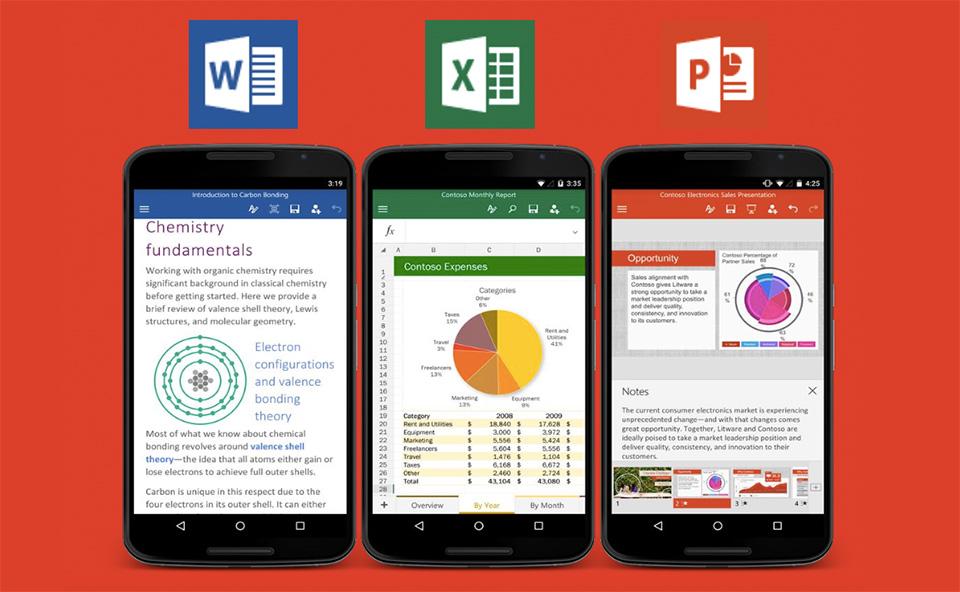 مايكروسوفت تطلق تحديثًا جديدًا لتطبيقاتها أوفيس في أندرويد