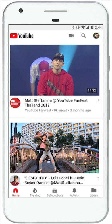 تصميم يوتيوب الجديد