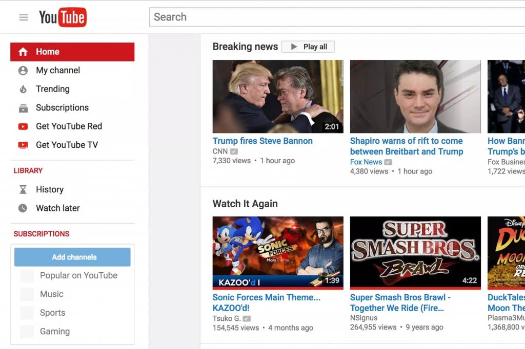 يوتيوب يخصص مساحة لعرض الأخبار العاجلة في الموقع والتطبيق