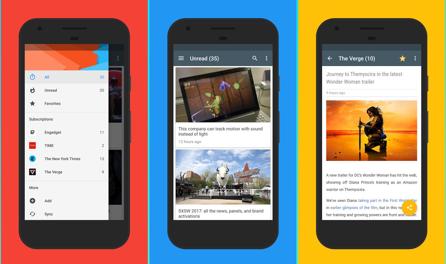 تطبيقRead لقراءة المقالات وخلاصات المواقع RSS - عالم التقنية