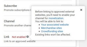 YouTube tightens rules around videos with external links