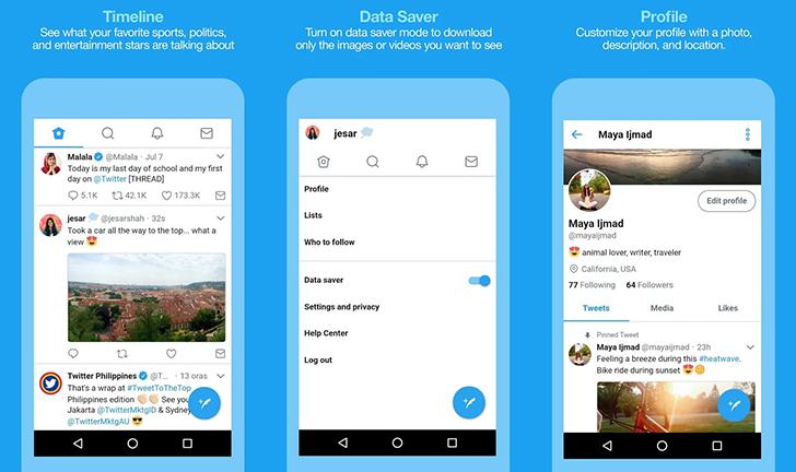 تطبيق Twitter Lite يصل لمتجر قوقل بلاي
