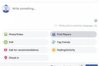 Facebook is testing a feature to help you find people to play games with