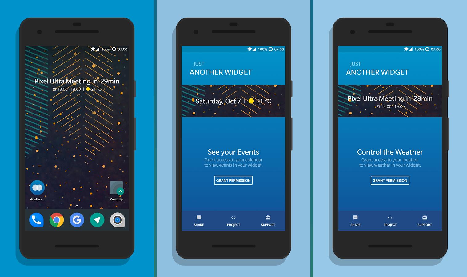 تطبيقAnother Widget للتمتع بإحدى مزايالانشر Pixel 2 على هاتفك الأندرويد