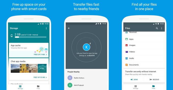 تطبيقFiles Go أصبح الآن متاح على قوقل بلاي