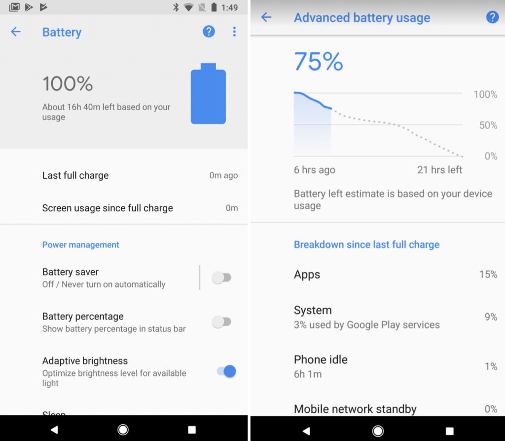 هواتف بيكسل من قوقل تحصل على أداة Smart Battery لمعرفة استهلاك البطارية