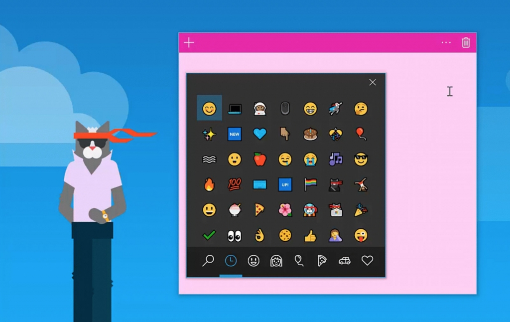 التحديث القادم لنظام ويندوز 10 سيجلب اقتراح الوجوه التعبيرية ولوحة لتسهيل استخدامها