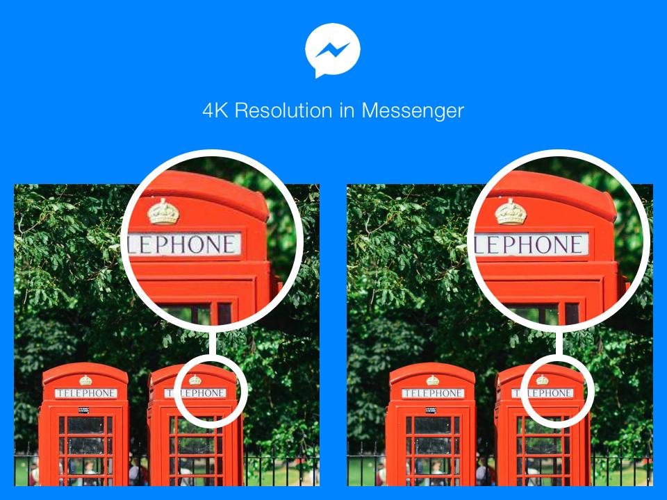 فيسبوك ماسنجر يسمح بإرسال وإستقبال الصور بدقة 4K