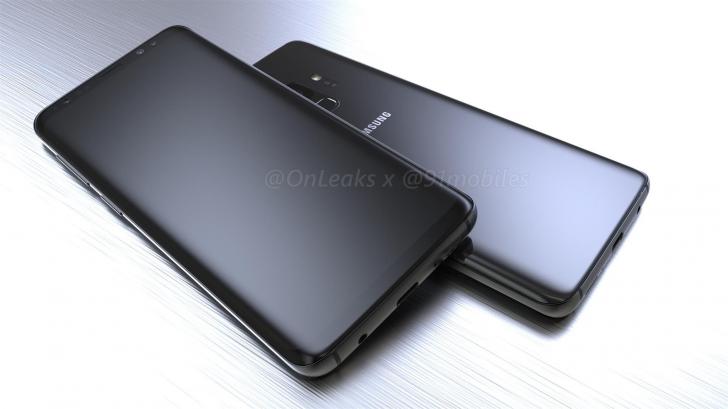تسريب التصميم شبه النهائي لهواتف جالكسي S9 و S9 بلس