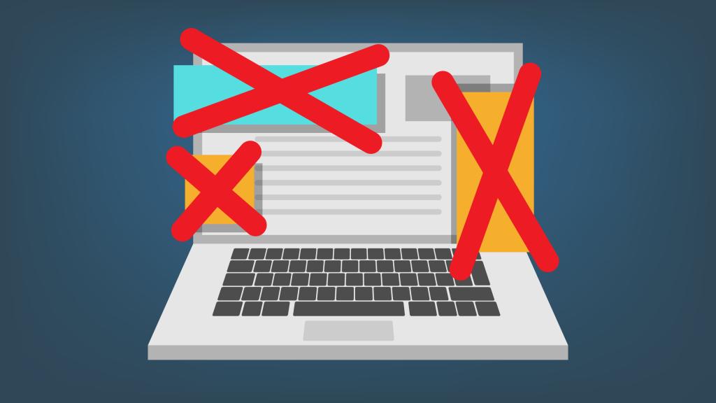 المواقع حجب الإعلانات
