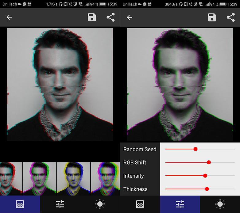 تجربة فلترGlitch على صورك مع تطبيقOnetap