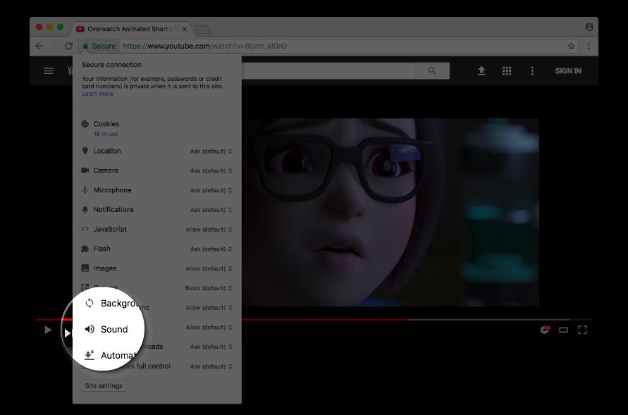 كتم صوت الفيديو ومنع النوافذ المزعجة من أبرز الميزات القادمة لمتصفح قوقل كروم في 2018