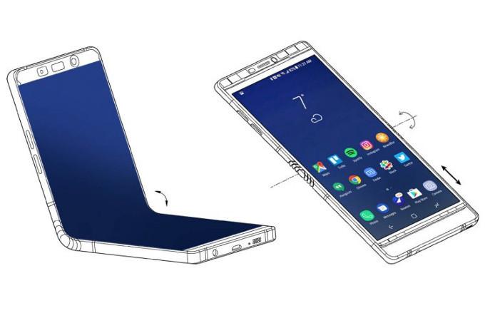 سامسونج تعمل على هاتف جديد قابل للطي لإطلاقه بداية العام القادم