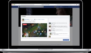 فيسبوك بثّ الألعاب