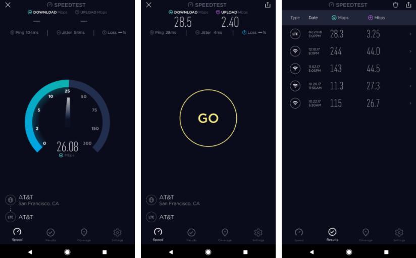 أخيرًا تطبيق قياس سرعة الانترنت Speedtest يجدد واجهته كليًا