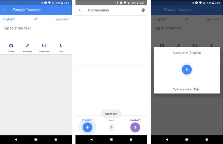 قوقل تُحدّث واجهة تطبيقها الترجمة مع وصول أسرع لوضع المحادثة