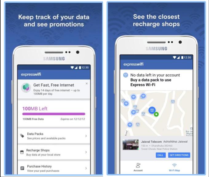 تطبيقExpress Wi-Fi من فيسبوك للاتصال بالإنترنت بأسعار رمزية