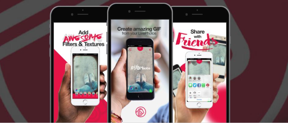 تطبيقGIFMyPhoto لانشاء صور متحركة باستخدم الصور الحية على iOS