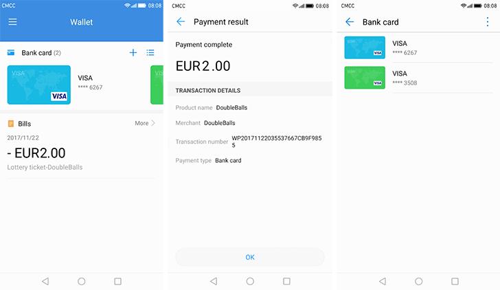 تطبيق خدمة Huawei Wallet يصل متجر قوقل بلاي
