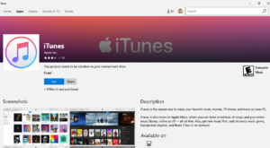 iTunes is now available in the Microsoft Store for Windows 10