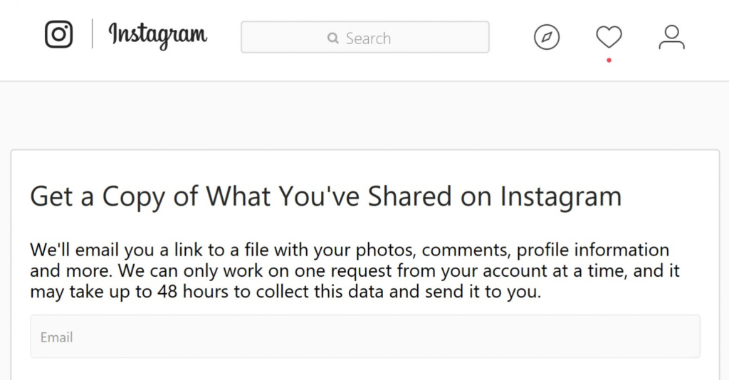 You can now download your Instagram data. Here's how