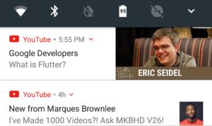 الآن إشعارات يوتيوب على أندرويد تتضمن صورة مُصغرة للفيديو