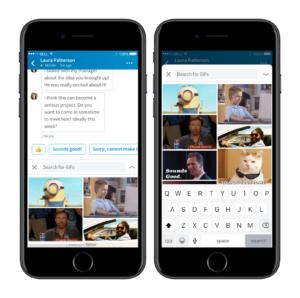 لينكد-إن تُضيف ميزة ارسال الصور المتحركة في الرسائل