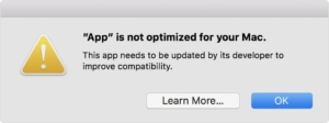 آبل تُرسل تحذيرات لمستخدمي نظام ماك بإيقاف دعم تطبيقات 32-بت