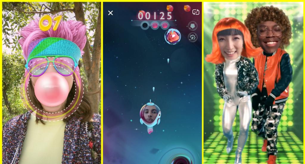 سنابشات تُطلق Snappables للعب بتقنية الواقع المُعزز
