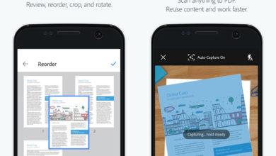 تطبيقAdobe Scan يدعم الآن مسح بطاقات العمل وتحويلها إلى جهة اتصال