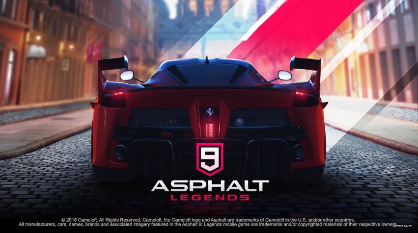 لعبةAsphalt 9 منGameloft قريبًا ستكون حاضرة على أندرويد