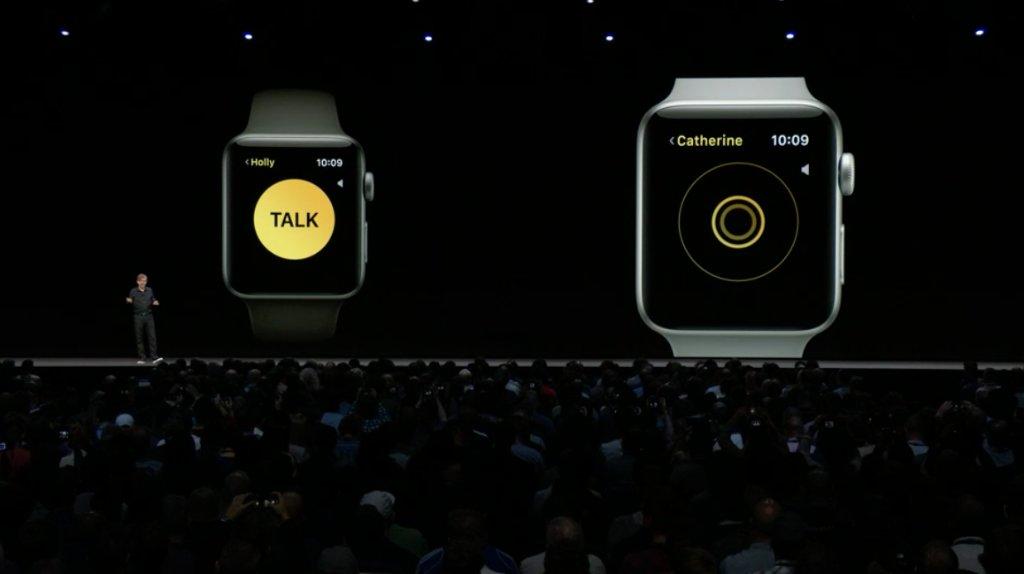 الكشف watchOS ميزة Walkie-Talkie