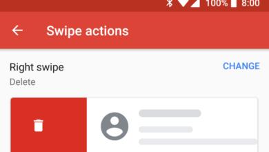 تطبيق Gmail على أندرويد يدعم الآن تخصيص إجراءات التمرير السريع