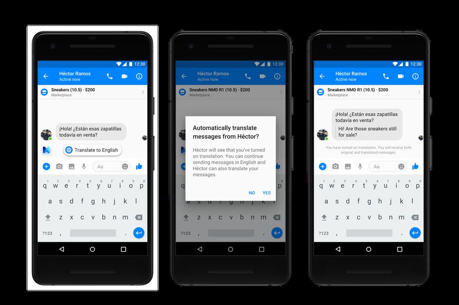 فيسبوك تضيف خدمة الترجمة الفورية بين الإنجليزية والاسبانية على ماسنجر