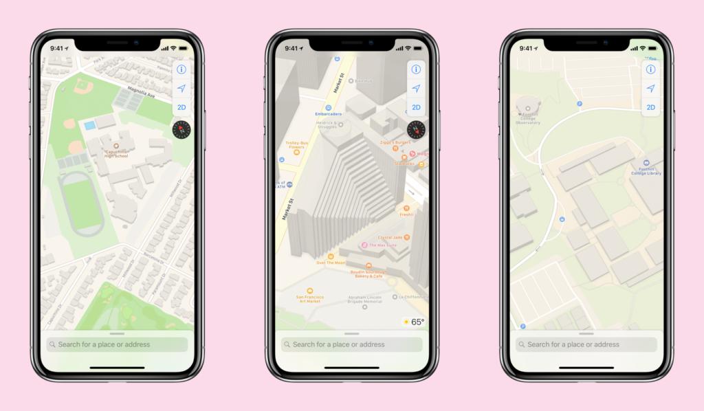 إعادة تطوير خرائط آبل بشكل كامل لتُظهر تفاصيل أكثر وصور أوضح للمستخدمين