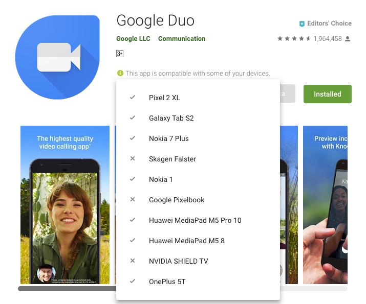 تطبيق Google Duo يدعم الآن تسجيل الدخول على أكثر من هاتف واحد