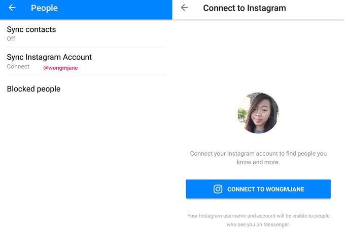 فيسبوك تختبر ميزة تهدف لتشجيع مستخدمي ماسنجر على استخدام انستقرام