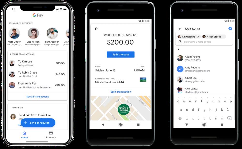 قوقل باي سيتيح ارسال واستقبال الأموال بين المستخدمين