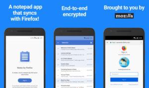 تطبيقNotes by Firefox من موزيلا لمزامنة الملاحظات بين الهاتف وسطح المكتب