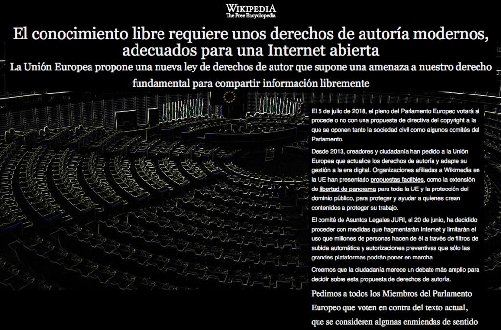 ويكيبيديا تعلن الحداد وتلبس اللون الأسود لمواجهة قرارات الاتحاد الأوروبي حول المحتوى