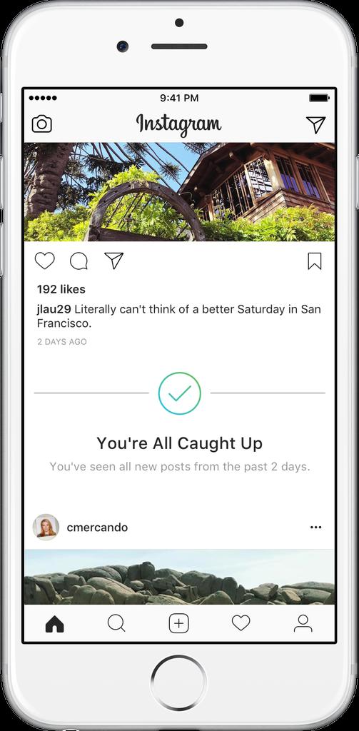 تطبيق إنستقرام سيخبرك عندما تشاهد كل المحتوى المنشور من المتابَعِين أخر يومين