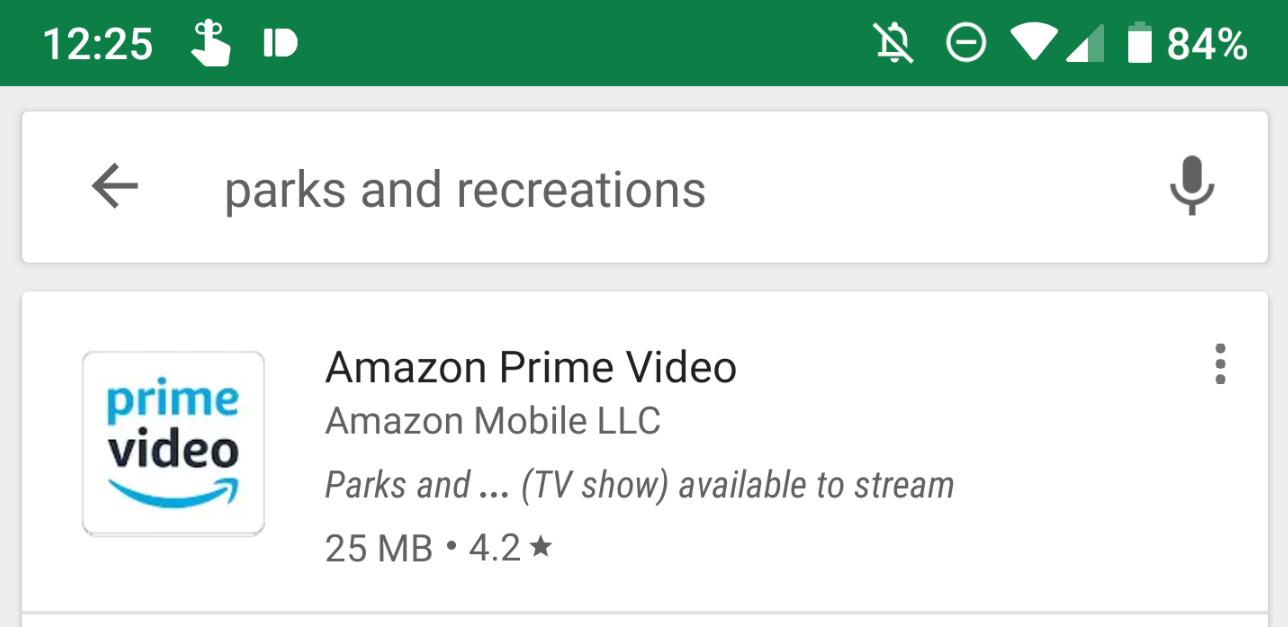 قوقل بلاي يعرض لك تطبيقات البث التي تحتوي على العرض الذي تبحث عنه