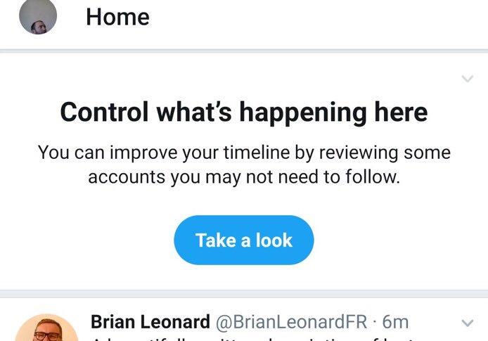 تويتر تختبر قائمة بالأشخاص المقترحين لإلغاء المتابعة