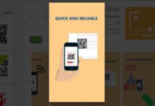 تطبيقFinger Scan لمسح رموزQR والباركود وبطاقات الأعمال دون انترنت