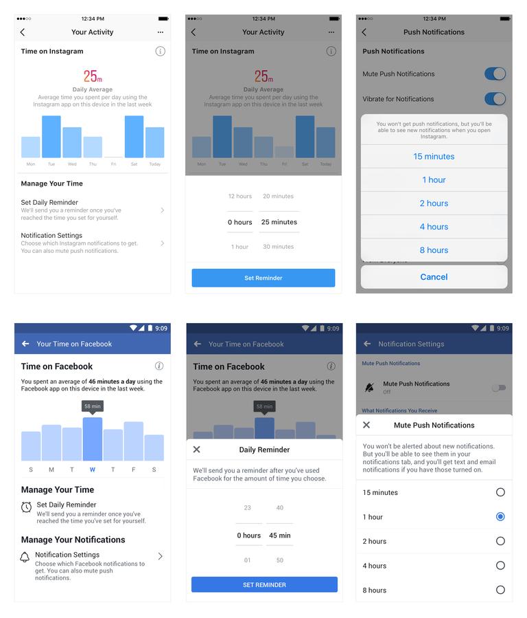 فيسبوك تُعلن عن أدوات جديدة لإدارة وقتك على فيسبوك وإنستقرام