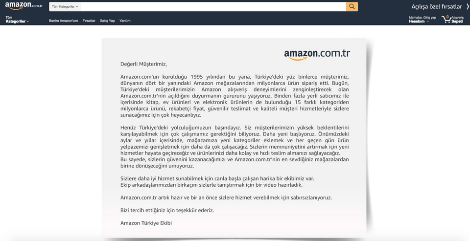 أمازون تبدأ خدماتها تركيا وتطلق 40959_TUR20180919Ama