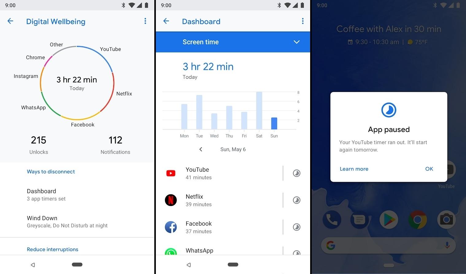 تطبيقDigital Wellbeing من قوقل لتتبّع استخدام الهاتف