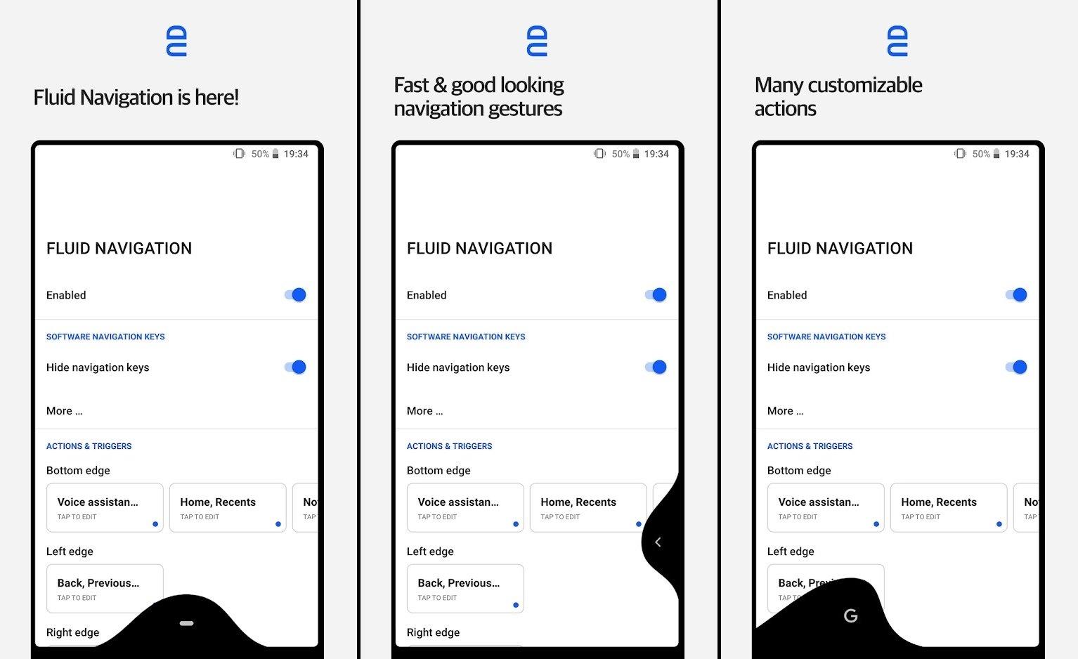 تطبيقFluid Navigation Gestures معه استمتع بإيماءات أندرويد P وآيفون X
